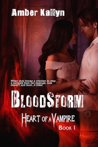 Book cover for Bloodstorm by Amber Kallyn