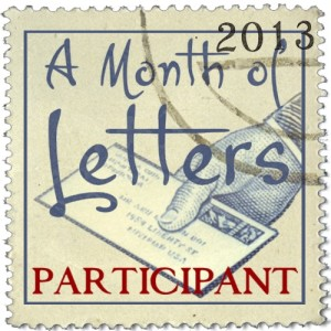 A Month of Letters 2013